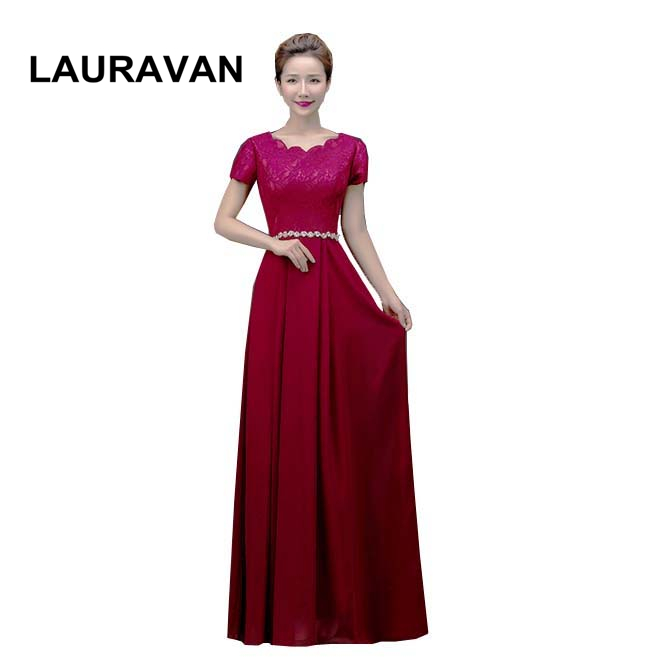 latest fashion women ladies 2019 new arrival chiffon girls formal sexy long wine red burgundy   bridesmaid     dress   a line   dresses