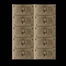 10 шт./лот Изысканная банкнота в американском стиле с покрытием из золотой фольги за 2 доллара