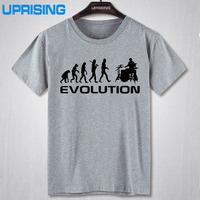 summer Mens   T  -  shirt   Bodybuilding Undershirt Fitness Men Drummer Evolution Funny Music humor Drums   T     Shirt   Top Tees
