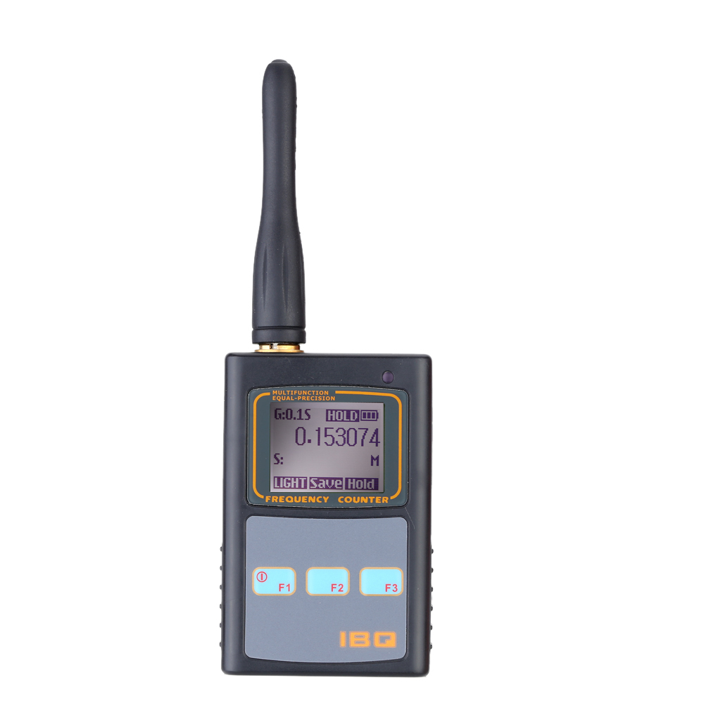 LCD Digital Frequency Counter Handheld cymometer with UHF antenna analyzer frequency meter 50MHz-2.6GHz for Two Way Radio