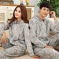Las mujeres ropa de Dormir de Manga Larga Pijama de franela de Otoño e invierno Cálido Amor Pijamas Para Hombre Pareja Pijama Salón del Sueño de Las Mujeres conjuntos