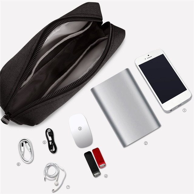 BalleenShiny Travel Digital Storage Bag Portable Digital USB Cable Charger Earphone Cosmetic Pouch Storage Organizer Bag Case