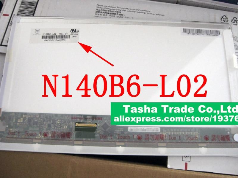 N140B6-L02 N140B6 L02 14.0 LED Laptop LCD Screen Matrix Panel Glossy 1366*768 HD LVDS 40Pins Original New for toshiba satellite c55 b c55 b5302 c55 b5350 matrix laptop screen 15 6 led display lcd screen 1366 768 hd lvds glossy