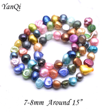 Fashion Natural Cultured Freshwater Pearl Beads 6-7mm 7-8mm Baroque AA Gread Mixed Pearl DIY Making Jewelry loose Pearl Beads long 80 inches 7 8mm white akoya cultured pearl necklace beads hand made jewelry making natural stone ye2077 wholesale price
