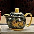 Керамический Чайник Кунг-фу чай Цзиндэчжэнь пейзаж Синий и белый костяной фарфор офисный чайник для дома