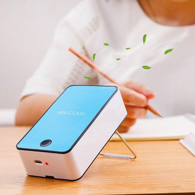 Mini Portable Bladeless Fan Cooler Cooling USB Rechargeable Battery Bladeless Fan Air Condicionado Ventilador