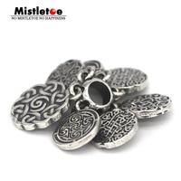 Mistletoe 925 Sterling Silver (Big) Endless Spacer Charm Bead Fit European Bracelet Jewelry