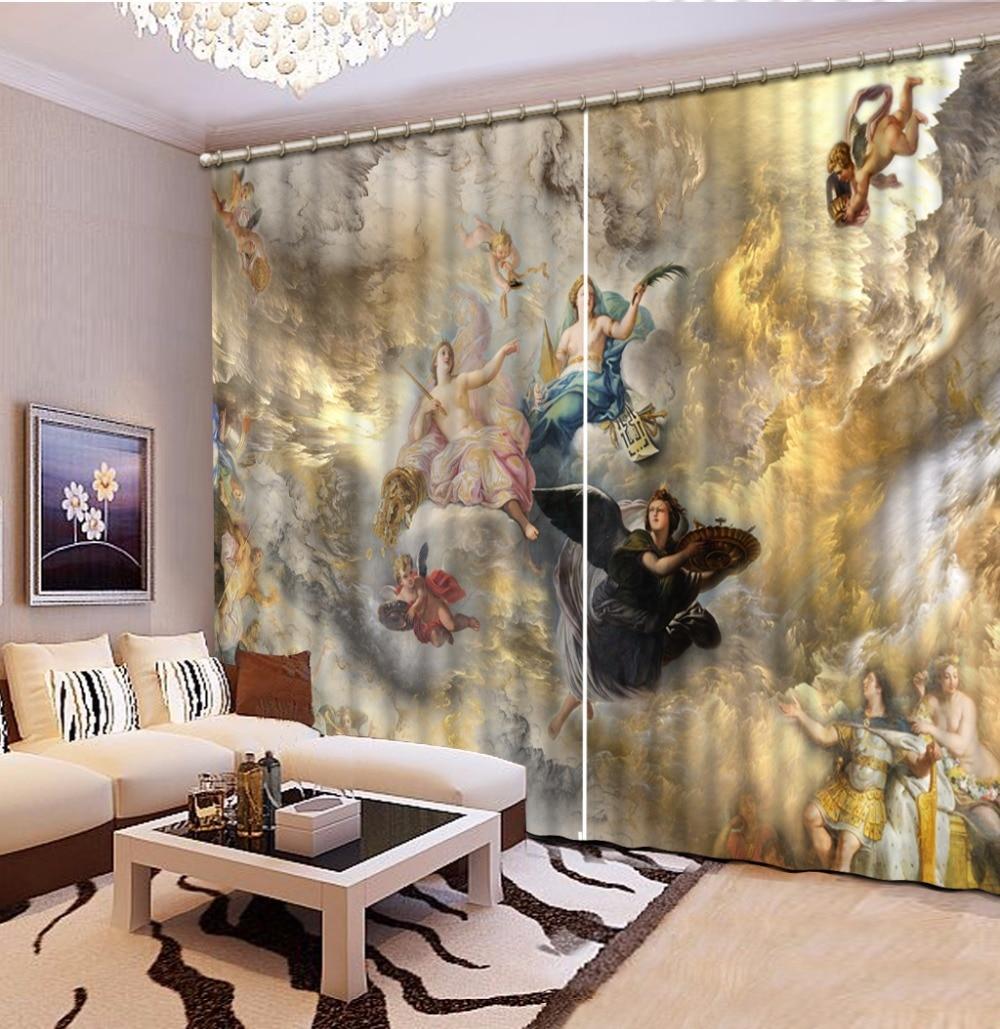 3D Rideau Photo personnaliser taille ciel, ange rideaux pour chambre rideaux pour salon 3D rideaux fenêtre Rideau