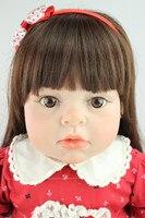 Реалистичные reborn Малыша Кукла Мягкий силиконовый винил Настоящее нежное прикосновение 28 дюйм(ов)