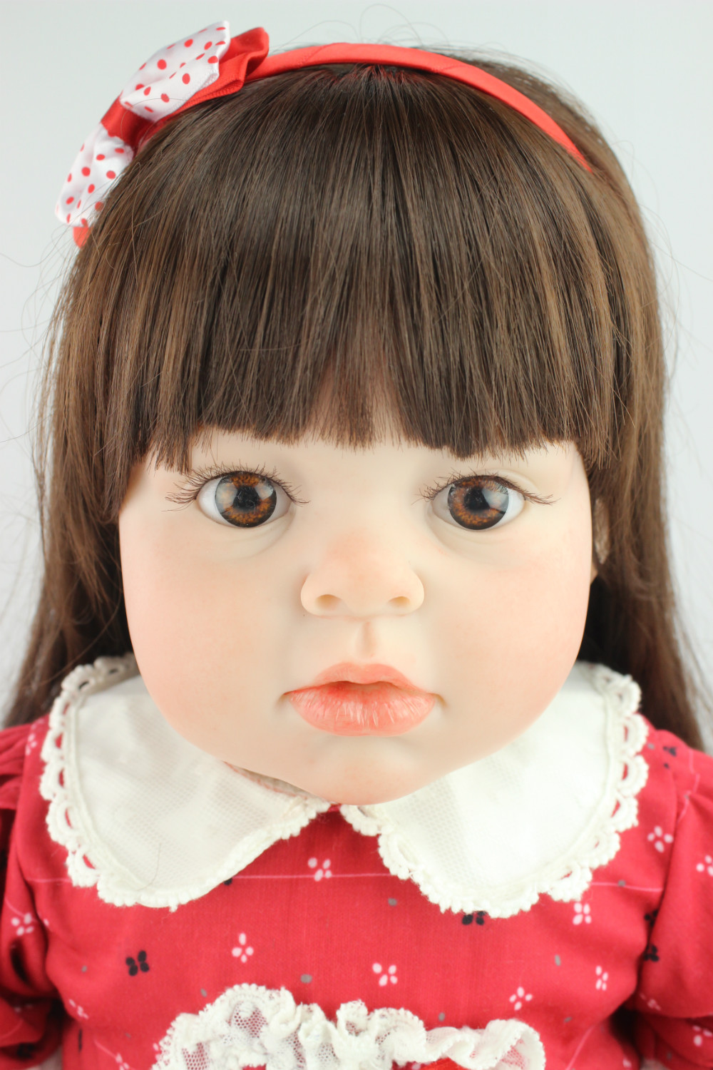 lifelike reborn toddler doll soft silicone vinyl real gentle touch 28inches