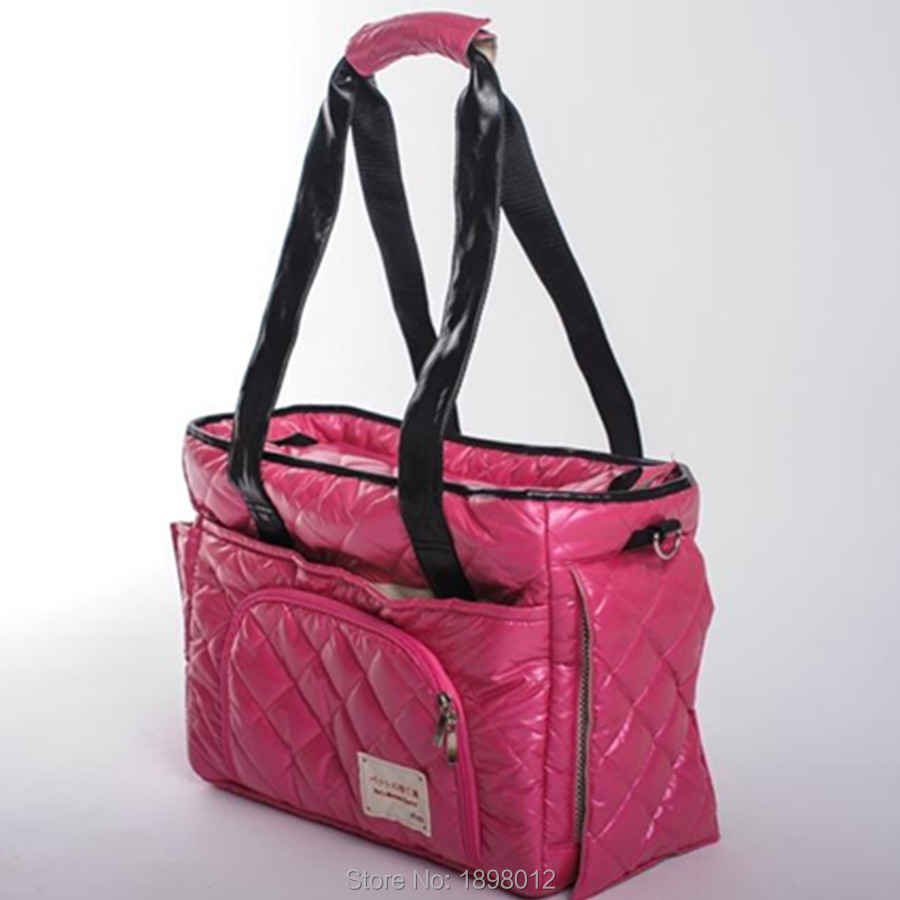 Portable Pet Carrier Bag For Carrying Dog Cat Small Animals Travel Carry Hand Bag Nylon Dog Slings Pink Orange Brown #5