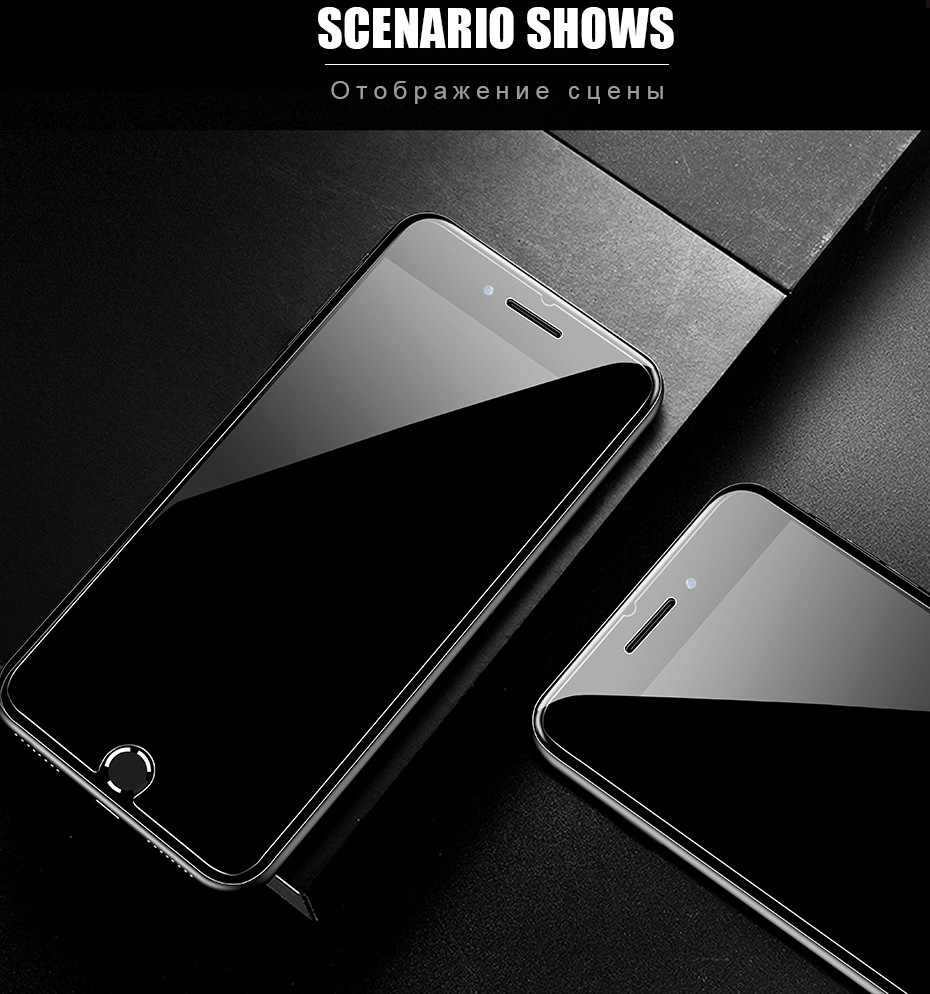 Full Cover Glass on the For  iPhone X XS Max XR 12 Tempered Glass For iPhone 7 8 6 6s Plus 5 5S SE 11 Pro Screen Protector