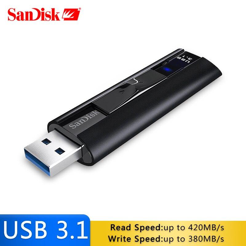SanDisk SDCZ880 Extreme PRO 128 GB USB 3.1 clé USB 256 GB lecteur de stylo haute vitesse 420 mo/s clé Usb mémoire