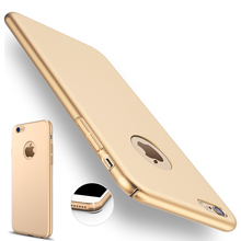 for iphone 7 plus iphone 7 Case Gold Black Luxury Thin Back Hard Armor Case for Apple iphone 6 6S 5 5S SE Cover Logo Accessories