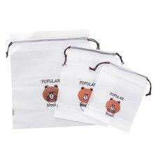 1 шт. сумка для хранения с медведем, органайзер для канцелярских принадлежностей, прозрачная матовая офисная поставка, Настольные принадлежности для хранения, школьные офисные принадлежности