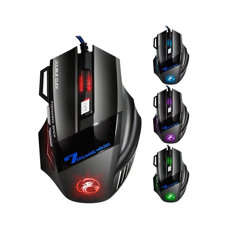 Image 5 - Профессиональная Проводная игровая мышь 7 кнопок светодиодный оптический USB компьютерные мыши для dota pubg mause для ноутбуков-in Мыши from Компьютер и офис
