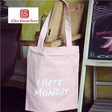 цена на Korean version 3D Letter Printing Shoulder Canvas Bag Portable Shopping Leisure Dtorage Bag Art College Wind Yravel Handbags