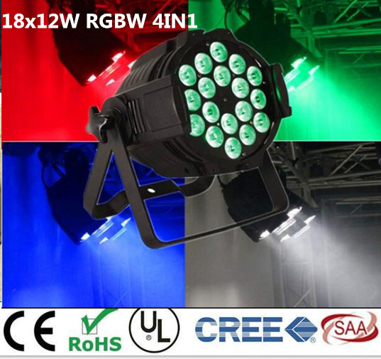 8pcs/lot, LED par 18x12W RGBW 4in1 Quad LED Par Can Par64 led spotlight dj projector wash lighting stage light light 4pcs lot led par 18x15w rgbwa 5in1 quad led par can par64 led spotlight dj projector wash lighting stage light