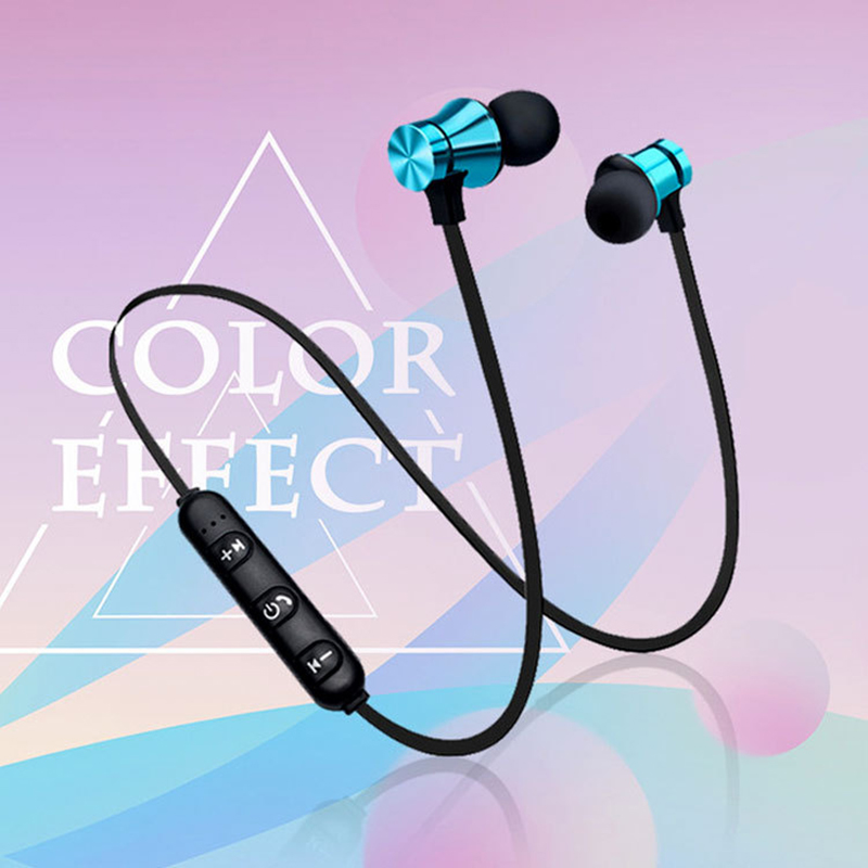 XT-11 Magnetic Bluetooth Earphone V4.2 Stereo Sports Waterproof Earbuds Wireless in-ear Headset with Mic for iPhone Samsung adapter