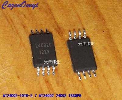 10 قطعة/الوحدة AT24C02-10TU-2.7 AT24C02 24C02 TSSOP-8 في الأسهم