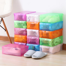 Shoe Storage Box Case Transparent Plastic Rectangle PP Organizer Thickened drawer