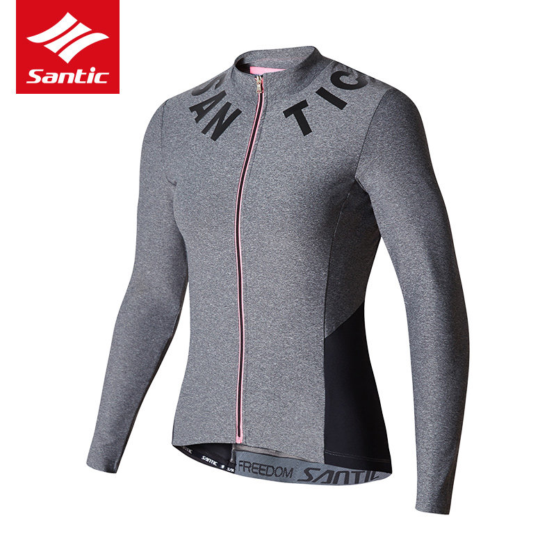 Santic Cycling Jersey Women Long Sleeve Quick Dry Breathable Cycling Clothing Anti-UV Riding Bicycle Bike Jersey Ropa Ciclismo