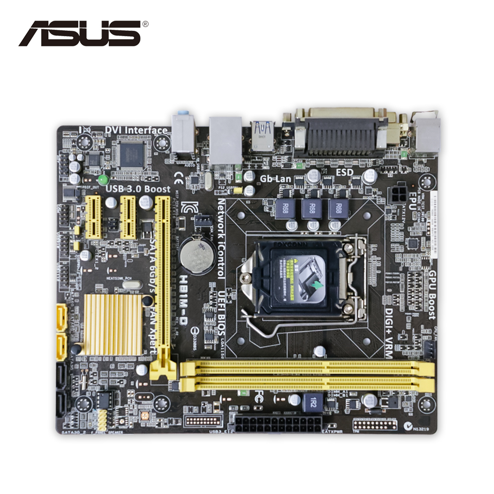 Asus H81M-D Original Used Desktop Motherboard H81 Socket LGA 1150 i3 i5 DDR3 uATX On Sale original new desktop motherboard for asus p7h55 m usb3 h55 support socket lga 1156 i7 i5 i3 maximum ddr3 16gb sata2 2 usb3 uatx