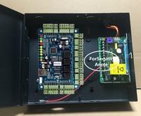 Network Web дверца Управление Лер Wiegand 4 Дверные рамы Управление доступом доска с металлической Питание коробка для Система контроля доступа