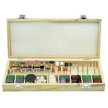 200 шт./компл. абразивный инструмент мини деревянная коробка роторный инструмент набор аксессуаров для инструмента Dremel набор шлифовальных аксессуаров