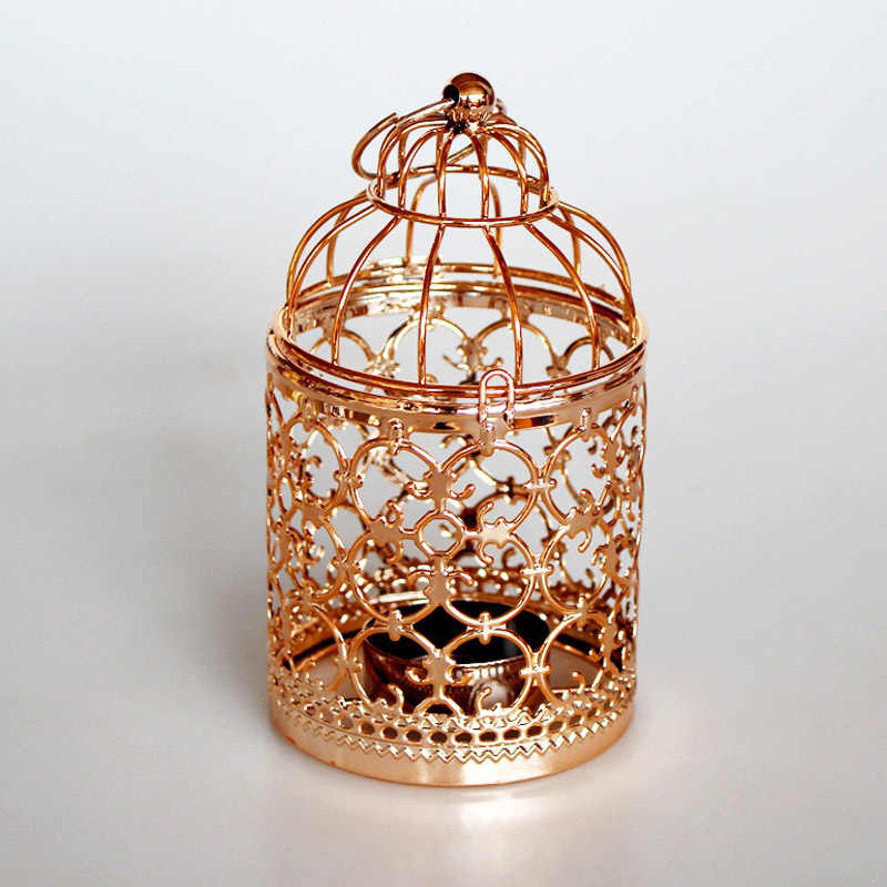 Metal Hollow Moroccan Lantern Candle Holder Tea Light Candle Cradle Home Room Decor QP2