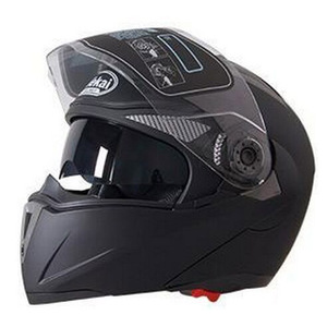 Image 2 - Jiekai capacete de segurança, capacete masculino de corrida com viseira dupla, lente dupla, para moto