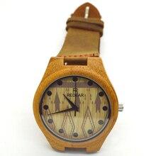 2016 женщин новинка бамбука деревянные наручные часы с кожаный ремешок любителей часы для женщин и мужчин