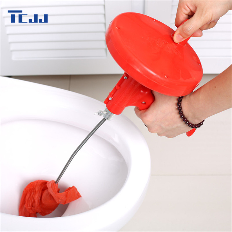 5M Professional Bathroom Toilet Pipe Blockage Cleaning Brush Bendable Metal  Sewer Sink Cleaner Kitchen Draining Cleaning Tool Awesome Design