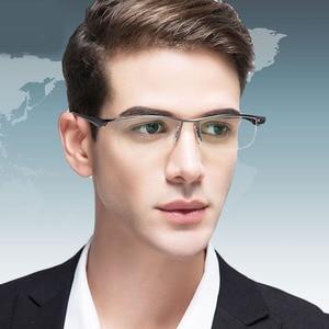 Image 2 - BCLEAR חדש גברים עסקי משקפיים מסגרת חצי רים מותג טיטניום סגסוגת קוצר ראייה משקפיים האולטרה אופנה כיכר מסגרות