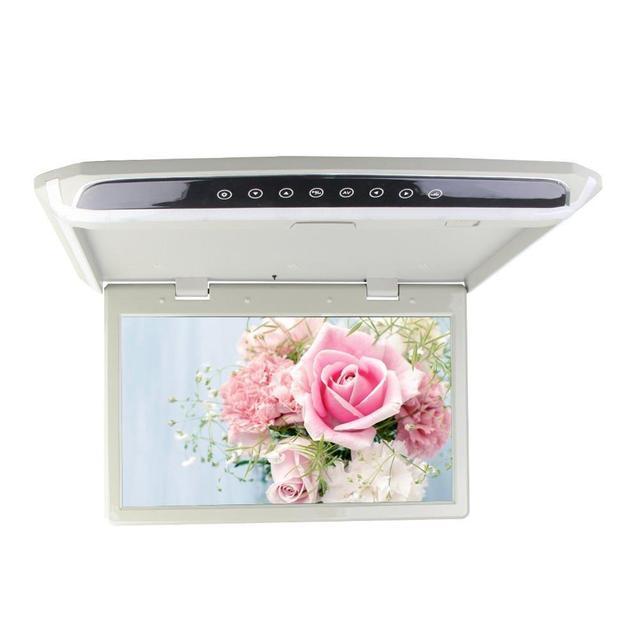 Elegante 15.6 pulgadas Lcd TFT en Color de 12 V ~ 24 V de Montaje En Techo Monitor Del Coche Tapa de Monitor Del Coche + Reproductor de HD 1080 P HDMI USB SD de vídeo