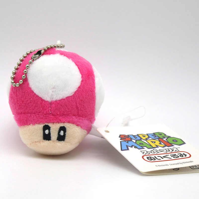 8 CM Süper Mario Bros Luigi Yoshi Toad Mantar Mantar peluş Anahtarlık Anime Eylem çocuklar için Oyuncaklar Rakamlar brithday hediyeler