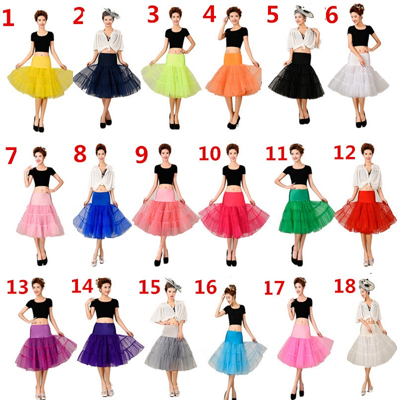 Short Underskirt 65cm Knee Length Bridal Crinoline Vintage Woman Petticoat for Wedding Dresses Rockabilly Tutu