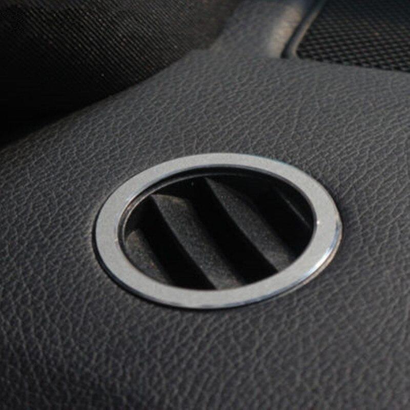 BBQ @ FUKA 2x автомобильный внутренний передний кондиционер вентиляционное отверстие накладка Стайлинг наклейка подходит для 2011-2015 Серебряный ...