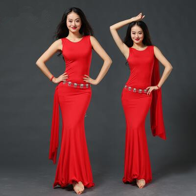 2018 New Arrival Cotton Rushed Branded Garments Belly Dance Costume Set Professional For Women Bellydance Dress Zm093