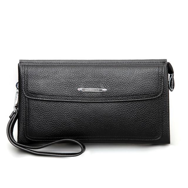 Leder Portemonnee Heren.Nieuwe Mode Mannen Echt Lederen Portemonnee Heren Clutch Bags Luxe