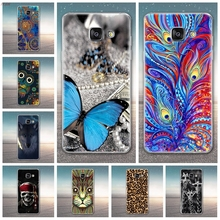 цена на Soft TPU Cover For Samsung Galaxy A3 2017 SM-A320F Case Soft Silicone Coloured Pattern Cover For Samsung Galaxy A3 2017 Case