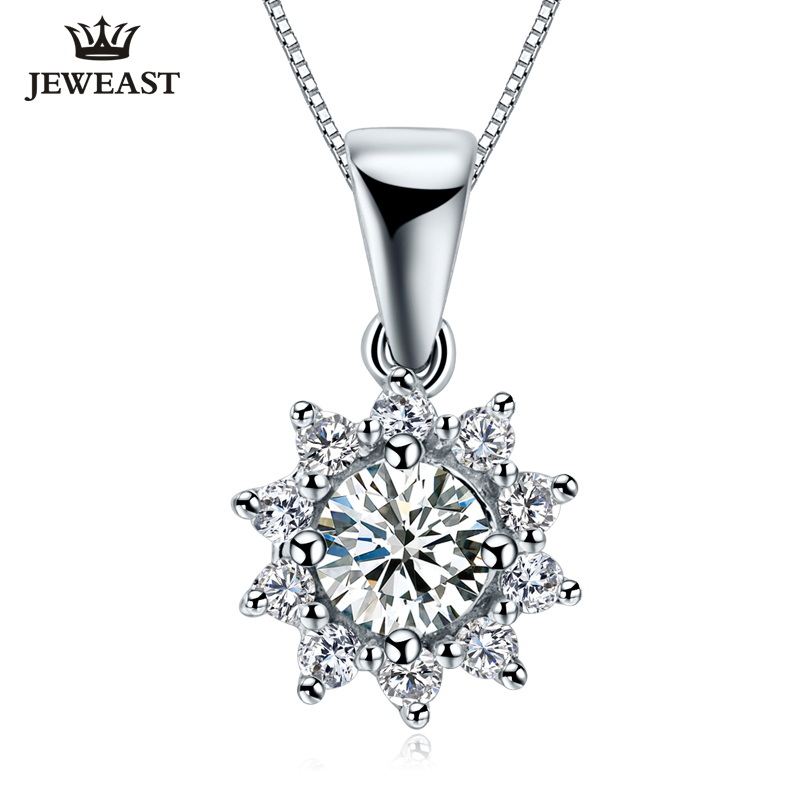 18K Gold Diamond Pendant Necklace Carat Effect Group Diamonds Pendant Female Pendant Genuine Exquisite Support Customization chic female signs pendant necklace page 4