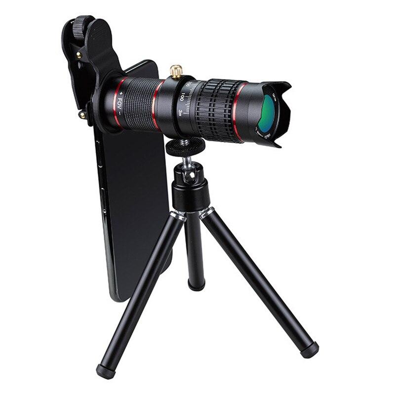 Image 3 - 4K HD Мобильный телефон телеобъектив Универсальный зум 15x 22x Монокуляр телескоп Лупа Телескопический Spyglass для цифровой камеры-in Телескоп и бинокли from Орудия