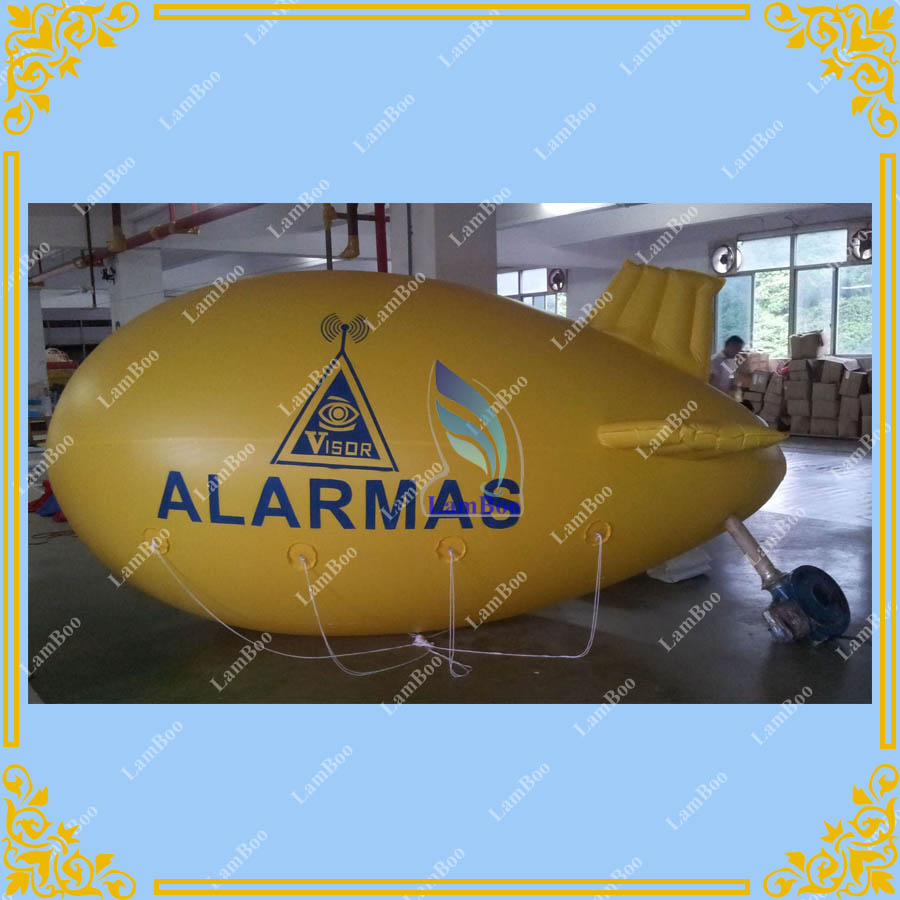 4m/13ft Long Yellow Inflatable Airship ,Advertising Blimp,Inflatable Zeppelin with your LOGO for Different Events цена
