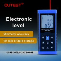 OUTEST Laser Distance Meter laser range finder 40M 60M 80M 100M Single continuous volume distance measurer with electronic level