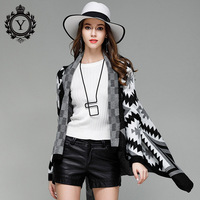 COUTUDI Long Knitted Cardigans Sweater Open Stitch Black Winter Sweaters Women S Cape Cardigan Poncho Long