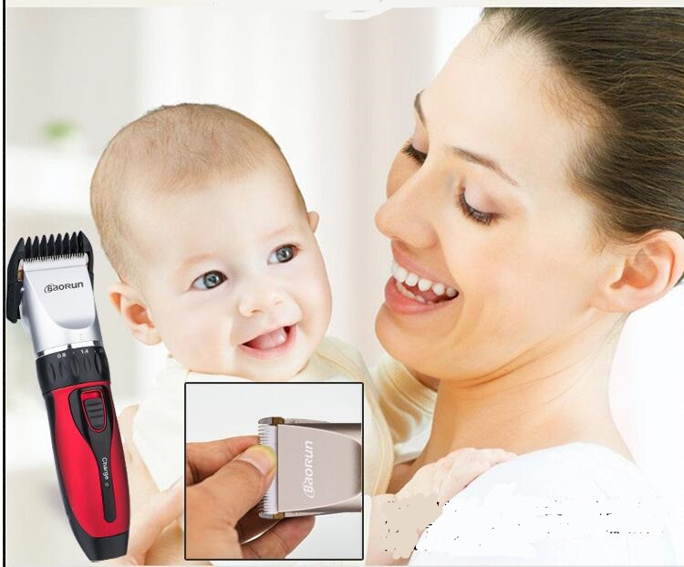 professional baby hair clipper trimmer ceramic head cutting low noise infant precision clipper kids barber children