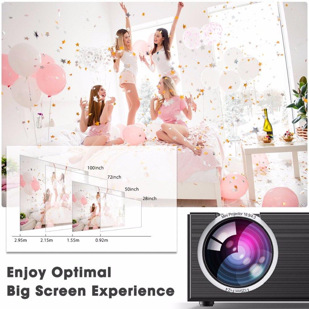 Cheerlux C7 LCD LED Mini Projector 1500 Lumens 6