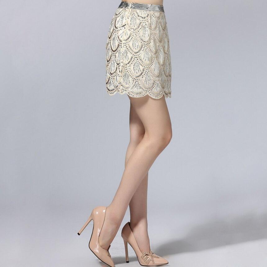 7cc3fdb5f € 34.72  Mujeres de lujo pescado Básculas Lentejuelas falda una línea Falda  corta 2018 verano nueva moda envío gratis en Faldas de La ropa de las ...