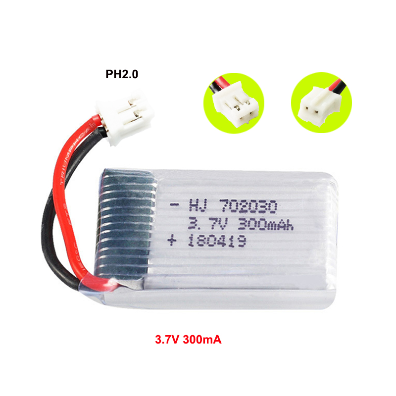 <font><b>3.7V</b></font> <font><b>300mAh</b></font> <font><b>Lipo</b></font> <font><b>Battery</b></font> for JJRC H56 T2G Drone <font><b>Battery</b></font> For RC Quadcopter Spare Part image
